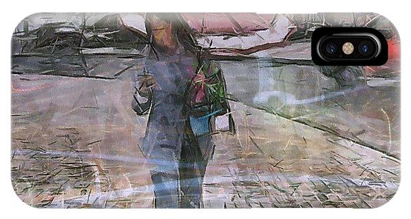 She iPhone Case - Paris And Rain by Yury Bashkin