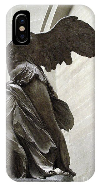 Louvre iPhone Case - Paris Angel Louvre Museum- Winged Victory Of Samothrace by Kathy Fornal
