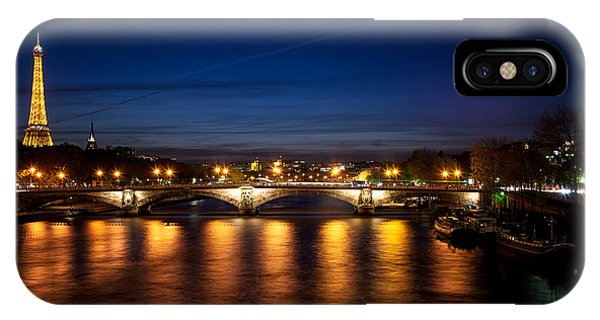 IPhone Case featuring the photograph Paris At Dusk by Ryan Wyckoff