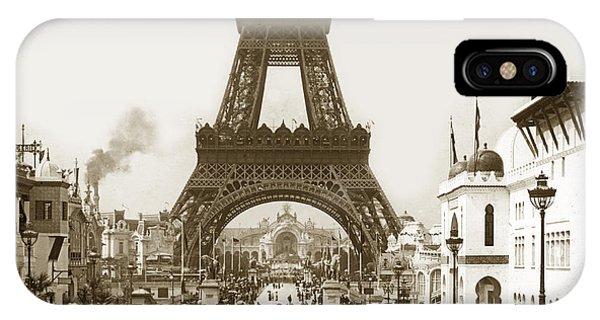 Paris Exposition Eiffel Tower Paris France 1900  Historical Photos IPhone Case
