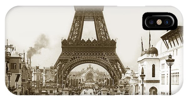 Paris Exposition Eiffel Tower Paris France 1900  Historical Photos IPhone Case