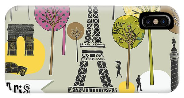 Paris France Art Print Phone Case by Lavandaart