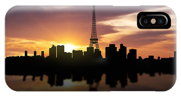 Louvre iPhone Case - Paris France Sunset Skyline  by Aged Pixel