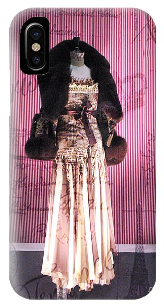 Window Shopping iPhone Case - Paris Haute Couture Dress High Fashion - Window Shopping In Paris  by Kathy Fornal