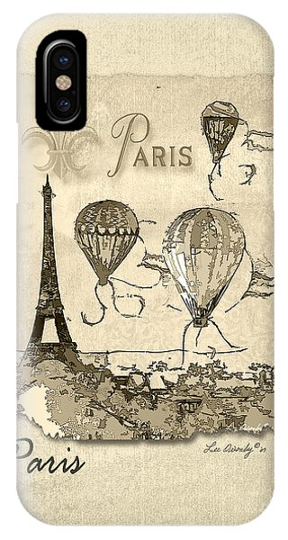 Paris In Sepia IPhone Case