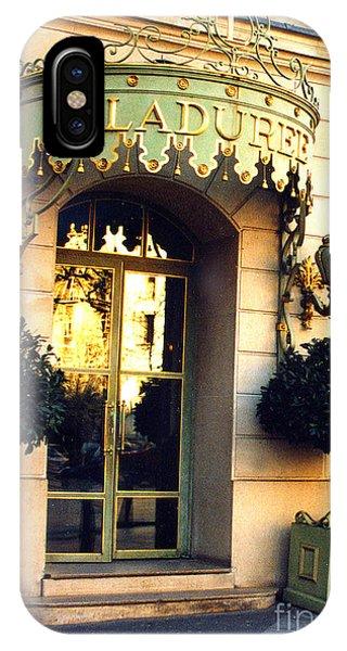 Paris Laduree French Bakery Patisserie - Champs Elysees Location IPhone Case