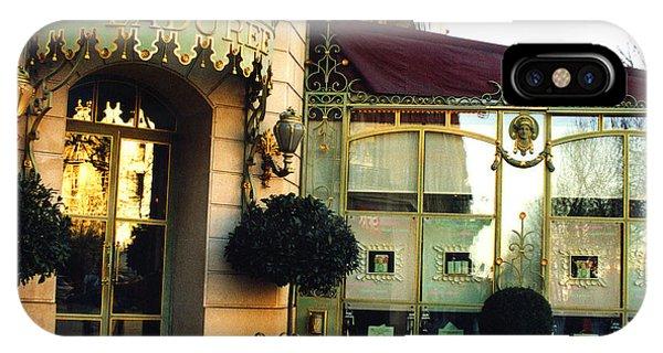 Paris Laduree Macaron French Bakery Patisserie Tea Shop - Champs Elysees - The Laduree Patisserie IPhone Case