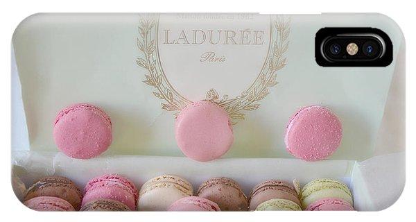 Paris Laduree Pastel Macarons - Paris Laduree Box - Paris Dreamy Pink Macarons - Laduree Macarons IPhone Case