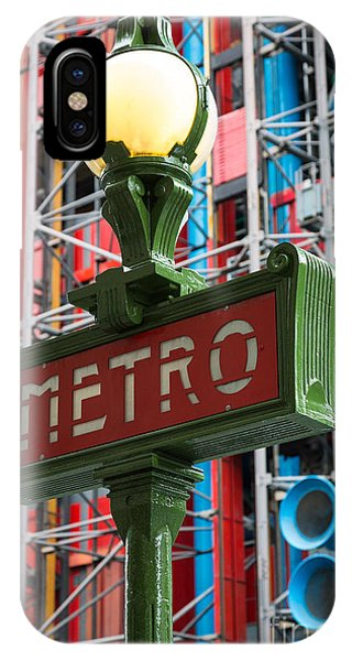 Paris Metro iPhone Case - Paris Metro by Inge Johnsson