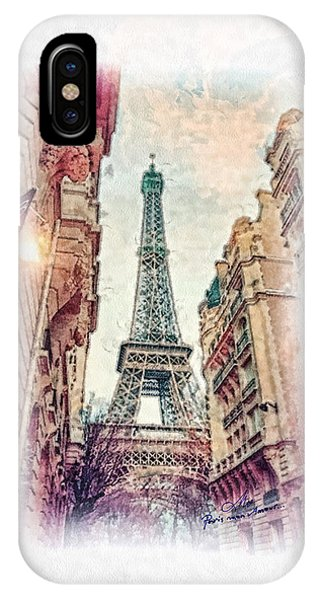Mo iPhone Case - Paris Mon Amour by Mo T