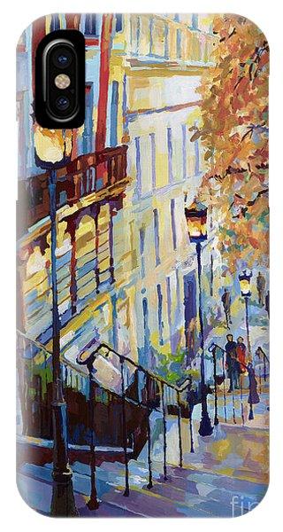 Paris Monmartr Steps IPhone Case