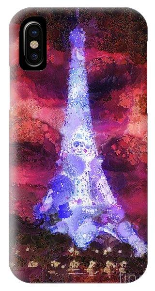 Mo iPhone Case - Paris Night by Mo T