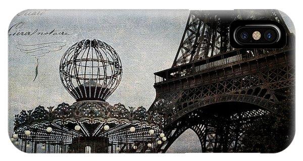 Paris One More Ride IPhone Case