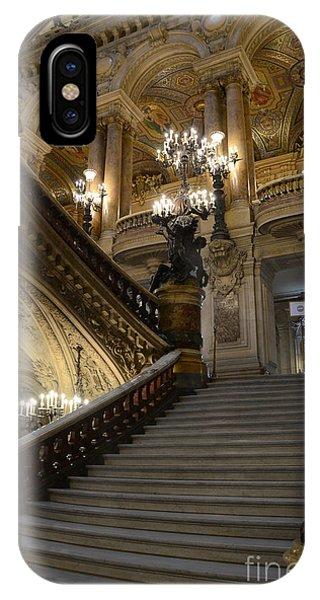 Paris Opera Garnier Grand Staircase - Paris Opera House Architecture Grand Staircase Fine Art IPhone Case