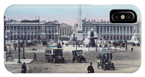 Paris Place De La Concorde 1910 IPhone Case