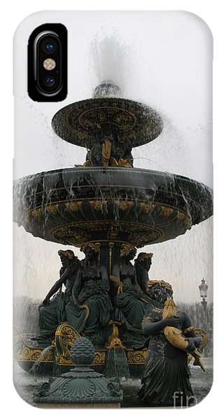 Concorde iPhone Case - Paris Romantic Sculpture Fountain - Place De La Concorde Fountain Square by Kathy Fornal