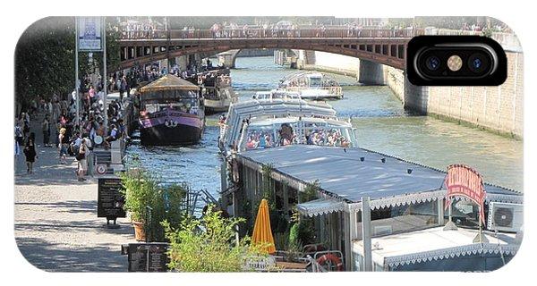 Paris - Seine Scene IPhone Case