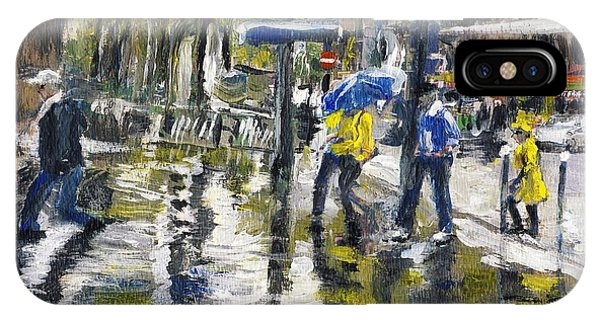 Paris Street Sketch In The Rain  IPhone Case
