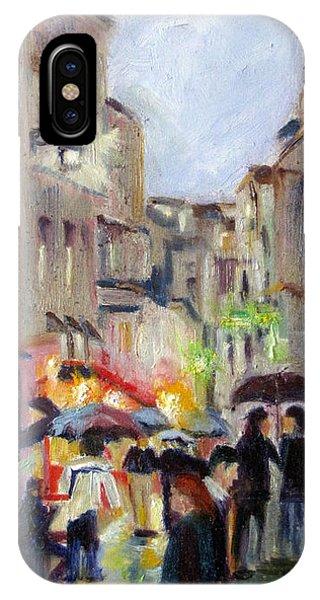 Paris Stroll In The Rain IPhone Case