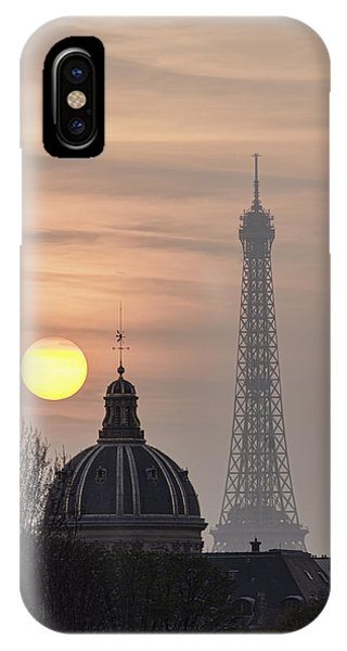 Paris Sunset I IPhone Case