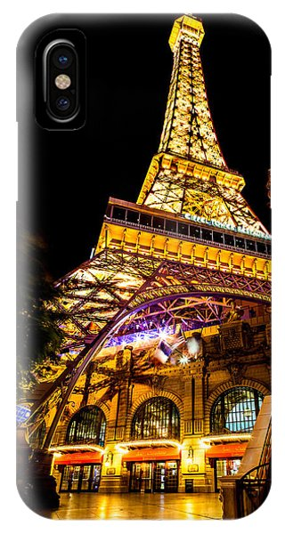 American Cars iPhone Case - Paris Under The Tower by Az Jackson