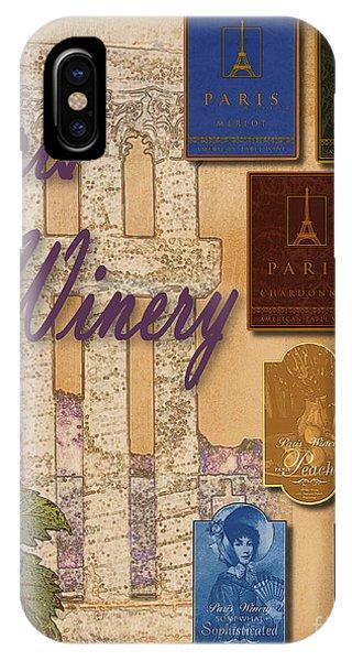 Paris Winery Labels IPhone Case