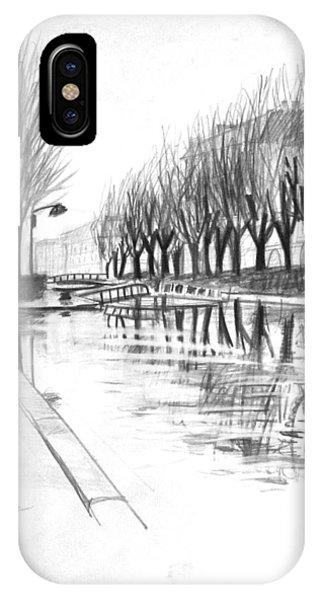 Paris Winter Canal IPhone Case