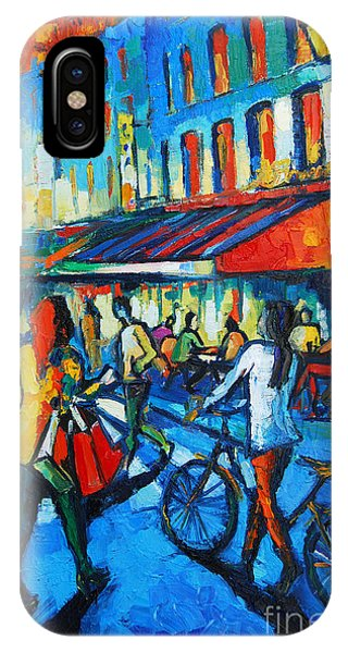 Paris iPhone Case - Parisian Cafe by Mona Edulesco