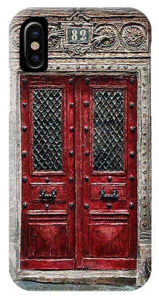 Parisian Door No.82 IPhone Case