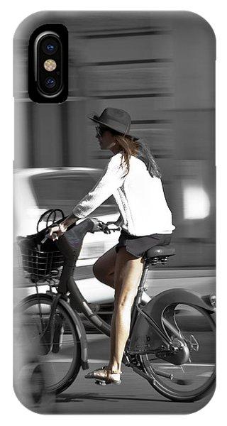 Parisian Girl Cyclist IPhone Case