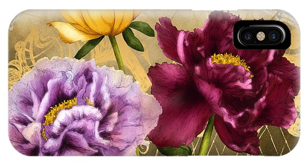 Peony iPhone Case - Parisian Peonies by April Moen
