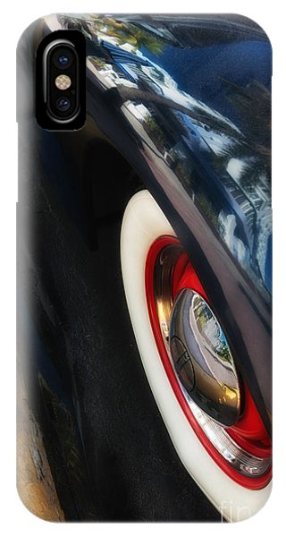 Park Central Hotel Reflection On Oldsmobile Wing - South Beach - Miami  Phone Case by Ian Monk