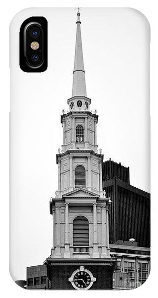 Park Street Church Boston Black And White IPhone Case