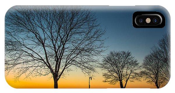 Park Sunset IPhone Case