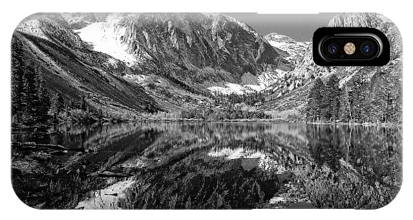 Parker Lake Black And White Phone Case by Scott McGuire