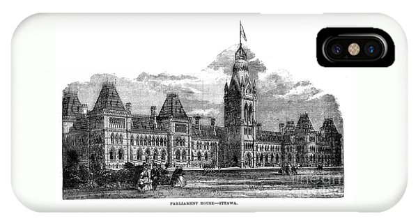 Parliament Building - Ottawa - 1878 IPhone Case