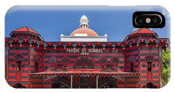 IPhone Case featuring the photograph Parque De Bombas Fire Station In Ponce Puerto Rico by Bryan Mullennix