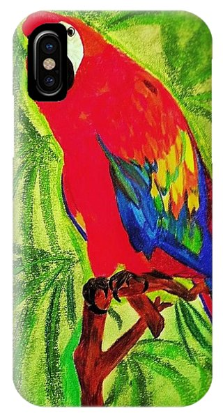 Parrot In Paradise IPhone Case