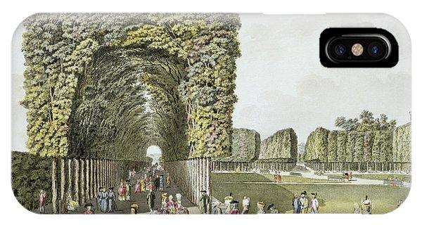 Avenue iPhone Case - Part Of The Garden At Ausgarten by Johann Ziegler