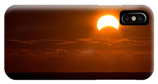 Partial  Eclipse Of The Sun IPhone Case