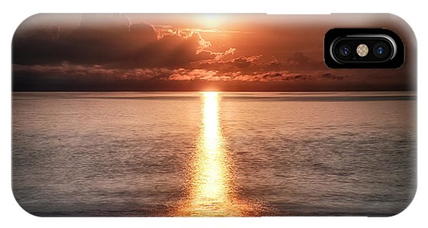 Parting Of The Atlantic Ocean In Hdr IPhone Case