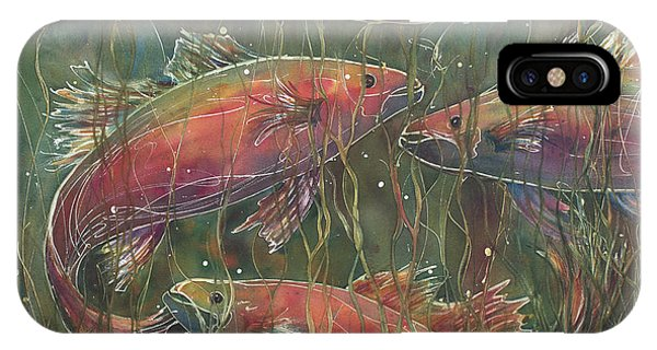 Party Under The Lily Pads IPhone Case
