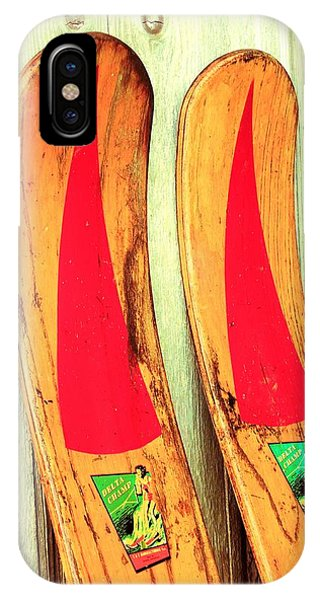 Water Ski iPhone Case - Pass The Wax by Benjamin Yeager