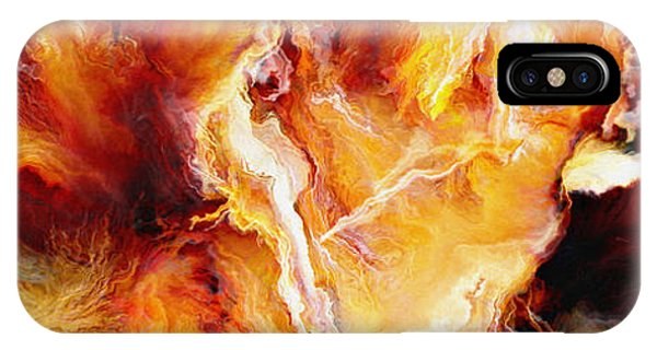 IPhone Case featuring the painting Passion - Abstract Art by Jaison Cianelli
