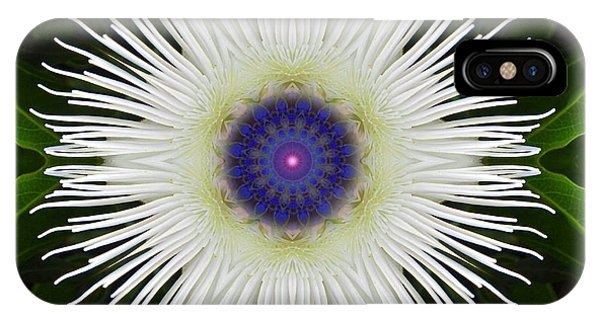 Passion Flower Portal Mandala IPhone Case