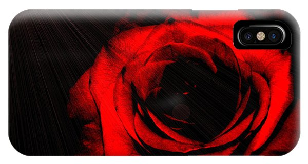 Passion. Red Rose IPhone Case
