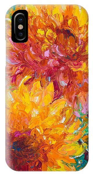 Oil iPhone Case - Passion by Talya Johnson