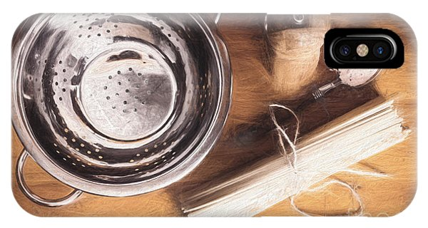Ingredient iPhone Case - Pasta Preparation. Vintage Photo Sketch by Jorgo Photography - Wall Art Gallery