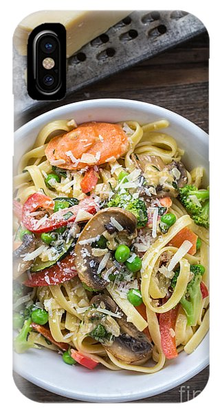 Broccoli iPhone Case - Pasta Primavera Dish by Edward Fielding