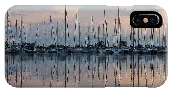 Pastel Sailboats Reflections At Dusk IPhone Case
